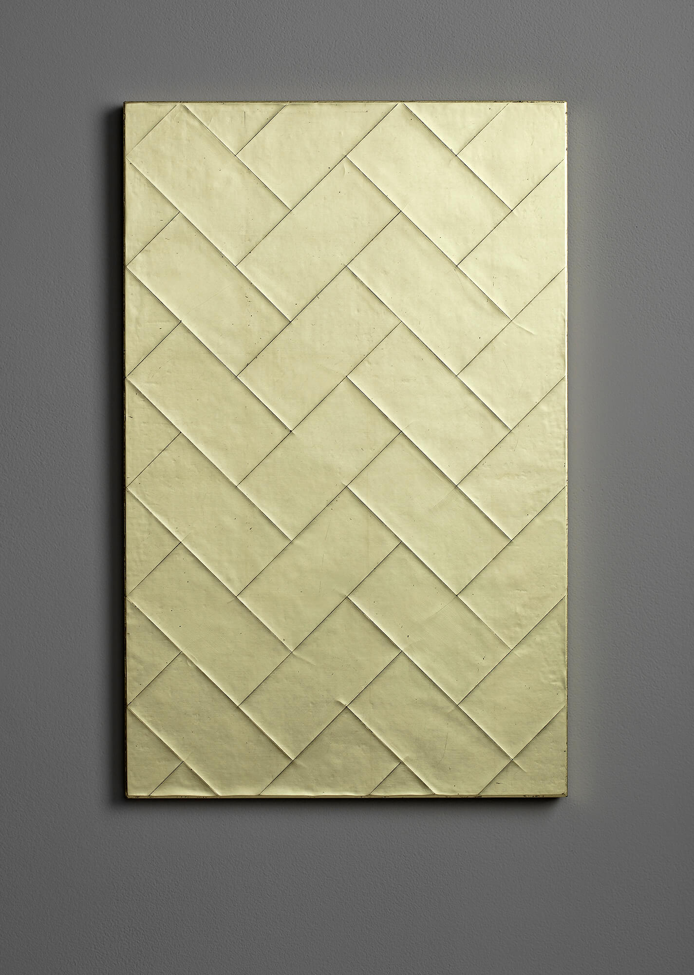 Gilded Cracked Gesso Panel