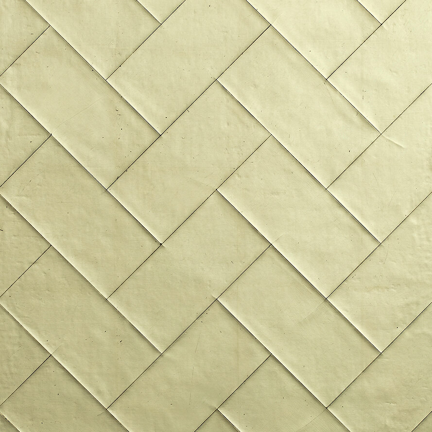 Gilded Cracked Gesso offset brick pattern