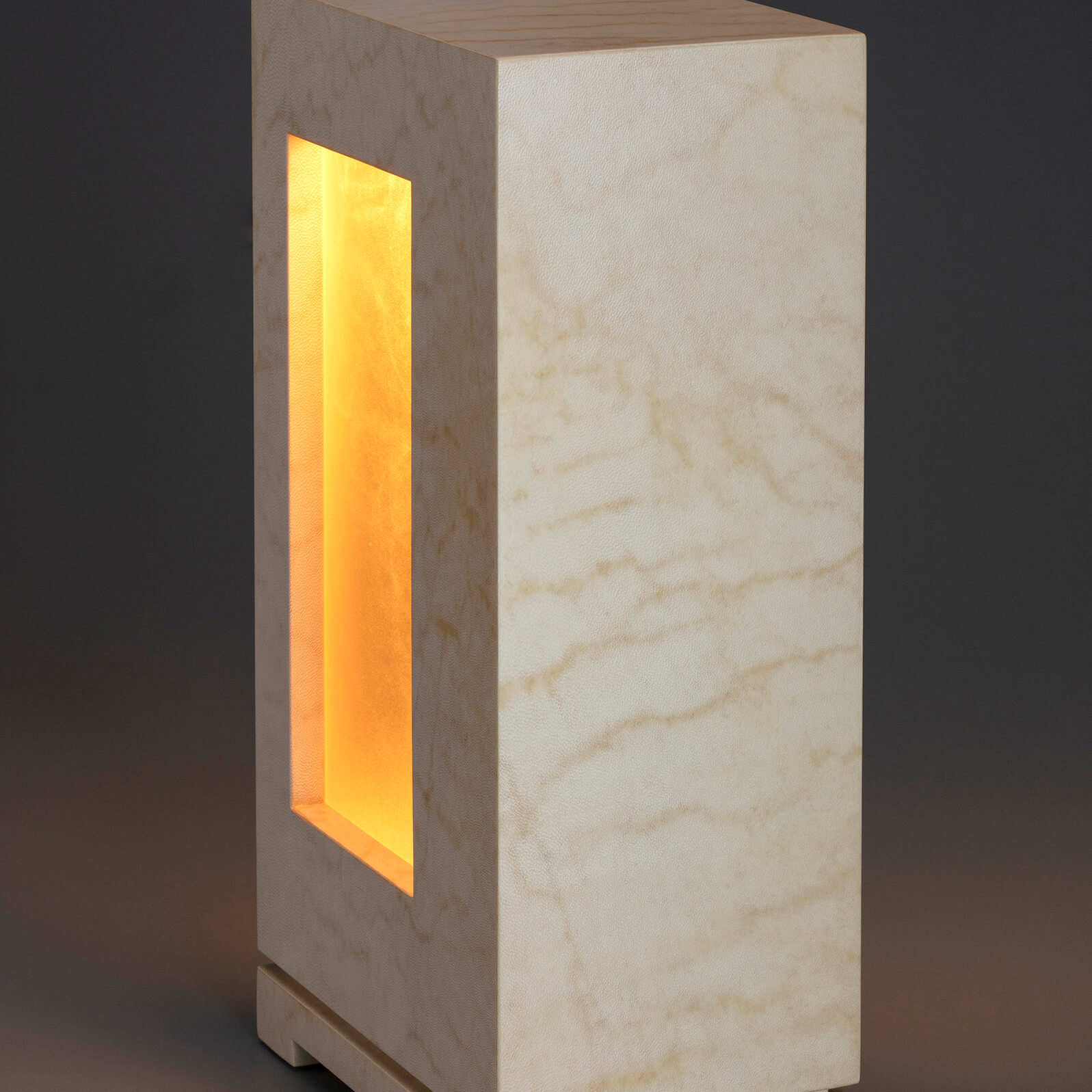 Lambskin Parchment Accent Lamp front and side view