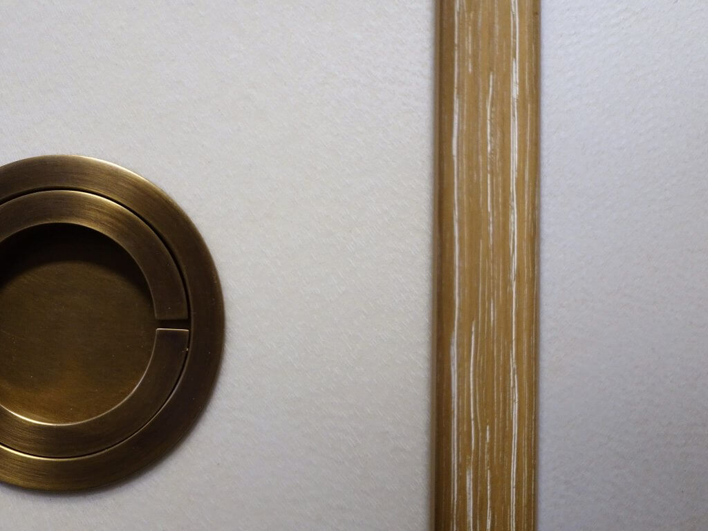 Parchment, Cerused Oak, Bronze Cabinet